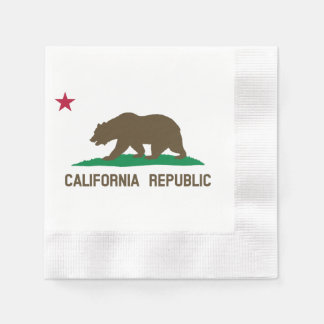 Flag of California Paper Napkin