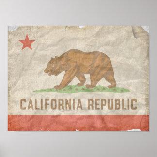 Flag of CALIFORNIA Poster