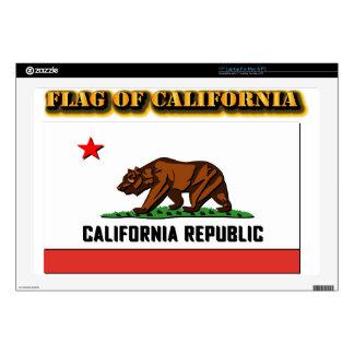 "Flag of California 17"" Laptop Skin"