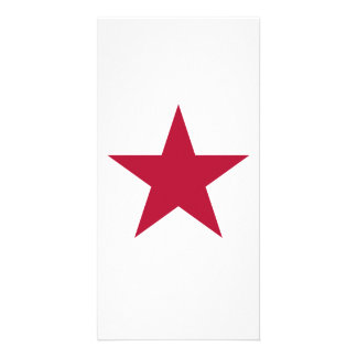 Flag of California Star Personalized Photo Card