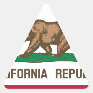 Flag of California Triangle Sticker