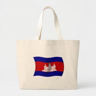 Flag of Cambodia Canvas Bag