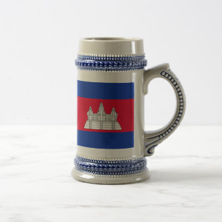 Flag of Cambodia Beer Stein