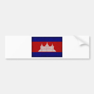 Flag of Cambodia Bumper Sticker