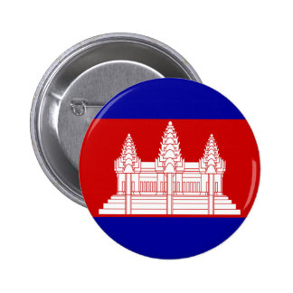 Flag of Cambodia Pinback Button