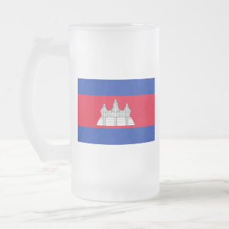 Flag of Cambodia Frosted Glass Beer Mug