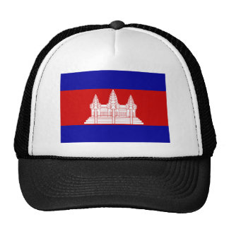 Flag of Cambodia Trucker Hats