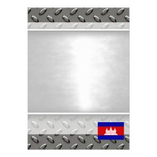 "Flag of Cambodia 5"" X 7"" Invitation Card"