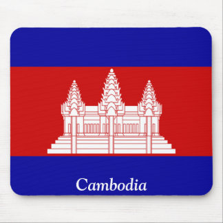 Flag of Cambodia Mousepads