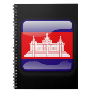 Flag of Cambodia Spiral Notebooks