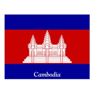 Flag of Cambodia Postcard