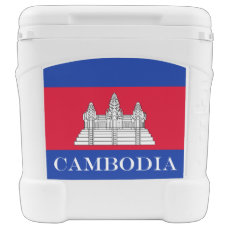 Flag of Cambodia Rolling Cooler