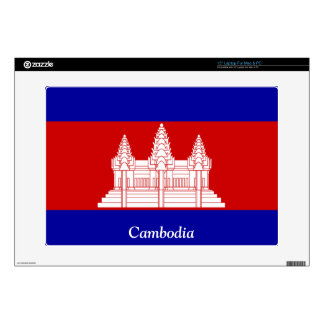 """Flag of Cambodia 15"""" Laptop Decal"""