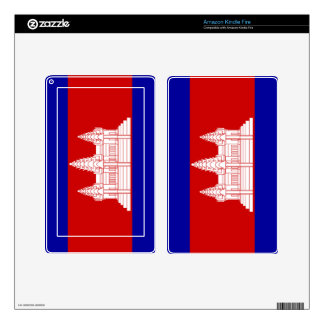 Flag of Cambodia Kindle Fire Decals