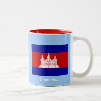 Flag of Cambodia Two-Tone Coffee Mug