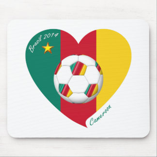 Flag of CAMEROUN SOCCER of national team 2014 Mouse Pads