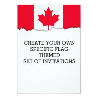 Flag of Canada Card