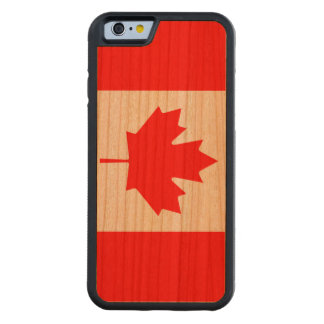 Flag of Canada Carved Cherry iPhone 6 Bumper Case