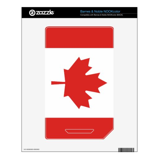 Flag of Canada Decal For The NOOK Color