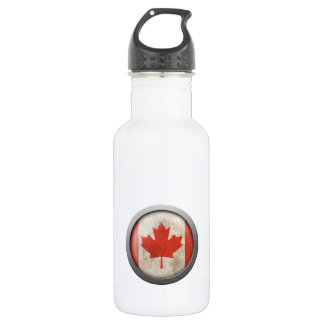 Flag of Canada Disc Stainless Steel Water Bottle