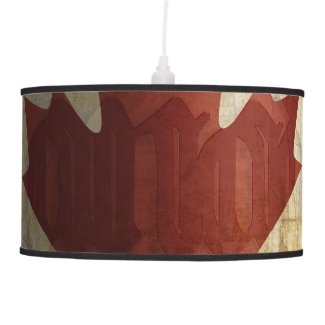 Flag of Canada / Grunge... Ceiling Lamp
