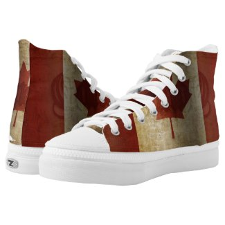 Flag of Canada / Grunge... High-Top Sneakers