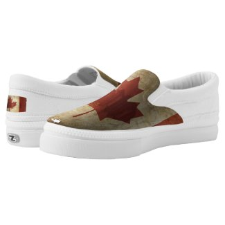 Flag of Canada / Grunge... Slip-On Sneakers