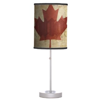 Flag of Canada / Grunge... Table Lamp