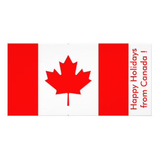 Flag of Canada Happy Holidays from Canada Personalized Photo Card