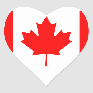 Flag of Canada Heart Sticker