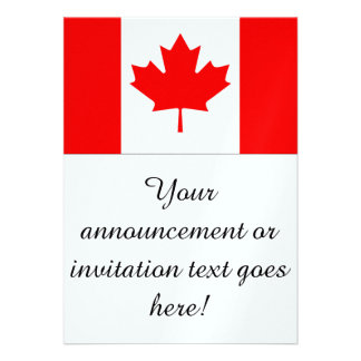 Flag of Canada Personalized Announcement