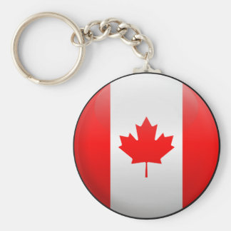 Flag of Canada Basic Round Button Keychain