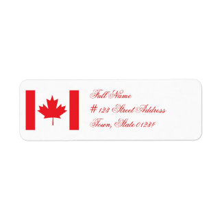 Flag of Canada Mailing Labels