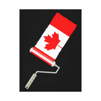 Flag of Canada Paint Roller Canvas Print