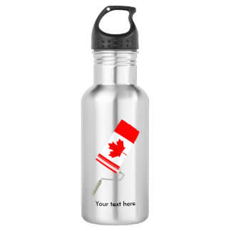 Flag of Canada Paint Roller Water Bottle