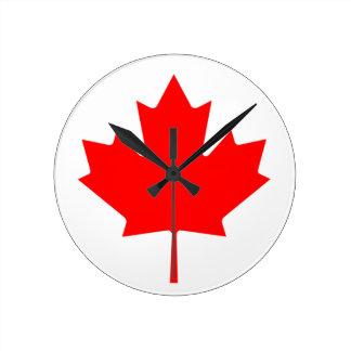 Flag of Canada Round Clock