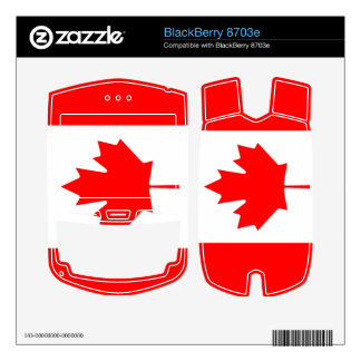 Flag of Canada BlackBerry 8703e Skins