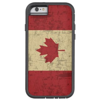 Flag of Canada Vintage Distressed iPhone 6 Case