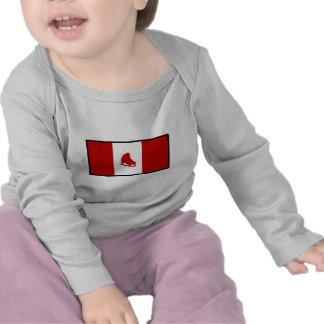Flag of Canadian Skating Tee Shirt