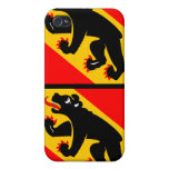 Flag of Canton of Bern- 4 Flag  iPhone 4 Cases