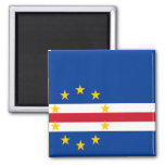 Flag of Cape Verde 2 Inch Square Magnet