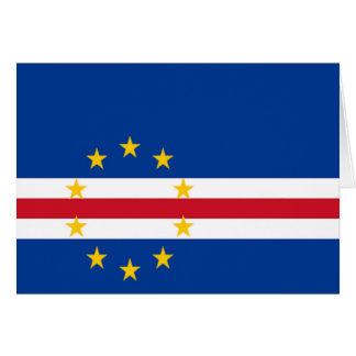 Flag of Cape Verde Card