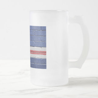 Flag of Cape Verde Frosted Glass Beer Mug