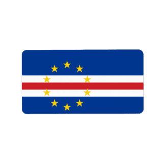 Flag of Cape Verde Labels