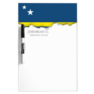 Flag of Caracao Dry-Erase Board