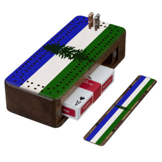 Flag of Cascadia Cribbage Board