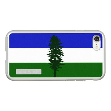 USA Themed Flag of Cascadia Silver iPhone Case