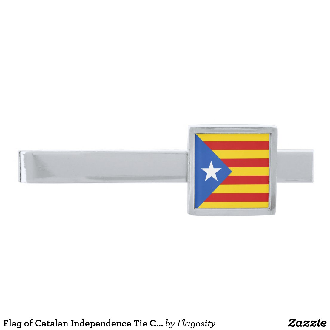 Flag of Catalan Independence Tie Clip