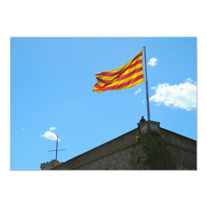 Flag of Catalonia Card