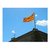 Flag of Catalonia Postcard